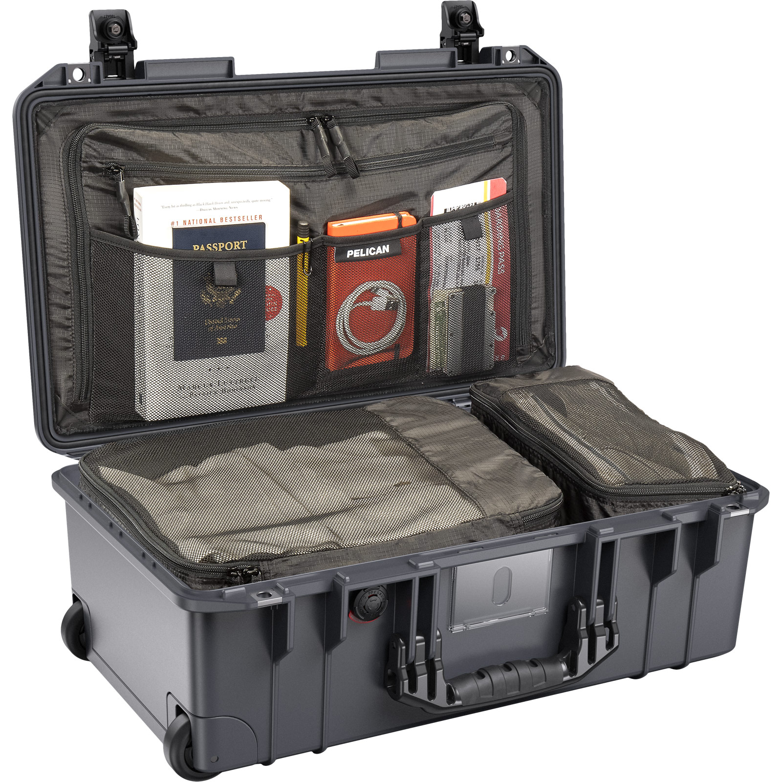 pelican 1535 charcoal air travel luggage case