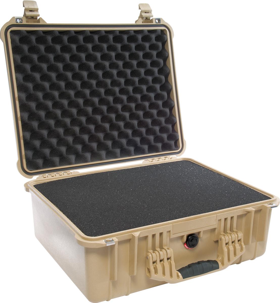 pelican 1550 tan camera lens foam case