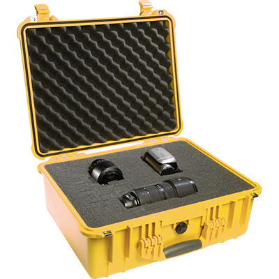 pelican 1550 yellow watertight foam case