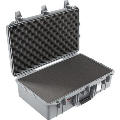 pelican 1555 silver foam watertight case