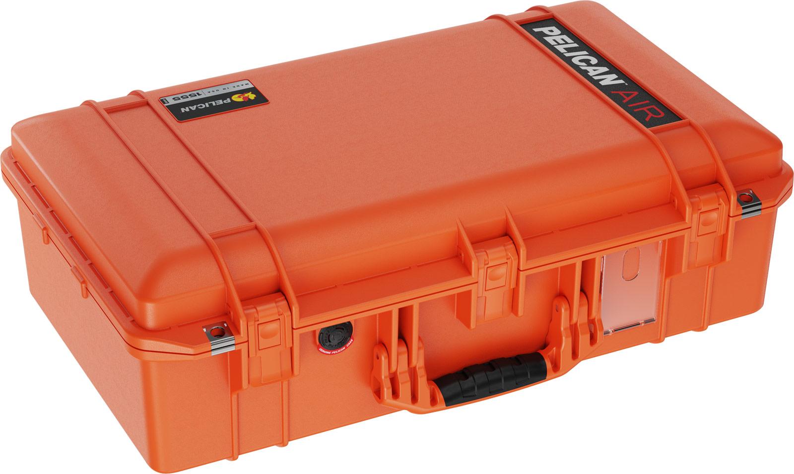 pelican orange 1555 air case travel cases