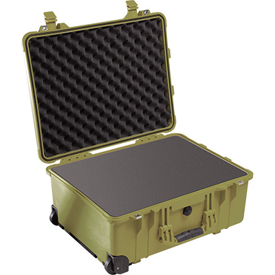 pelican 1560 green protector foam case