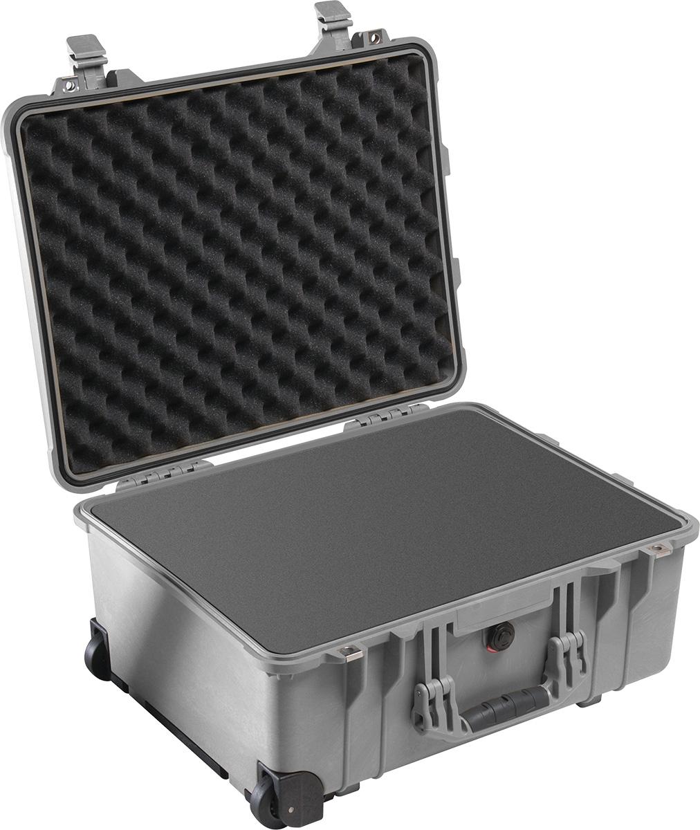 pelican 1560 protector silver foam case