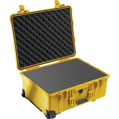 pelican 1560 yellow watertight foam case