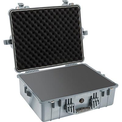 pelican 1600 silver foam dslr camera case