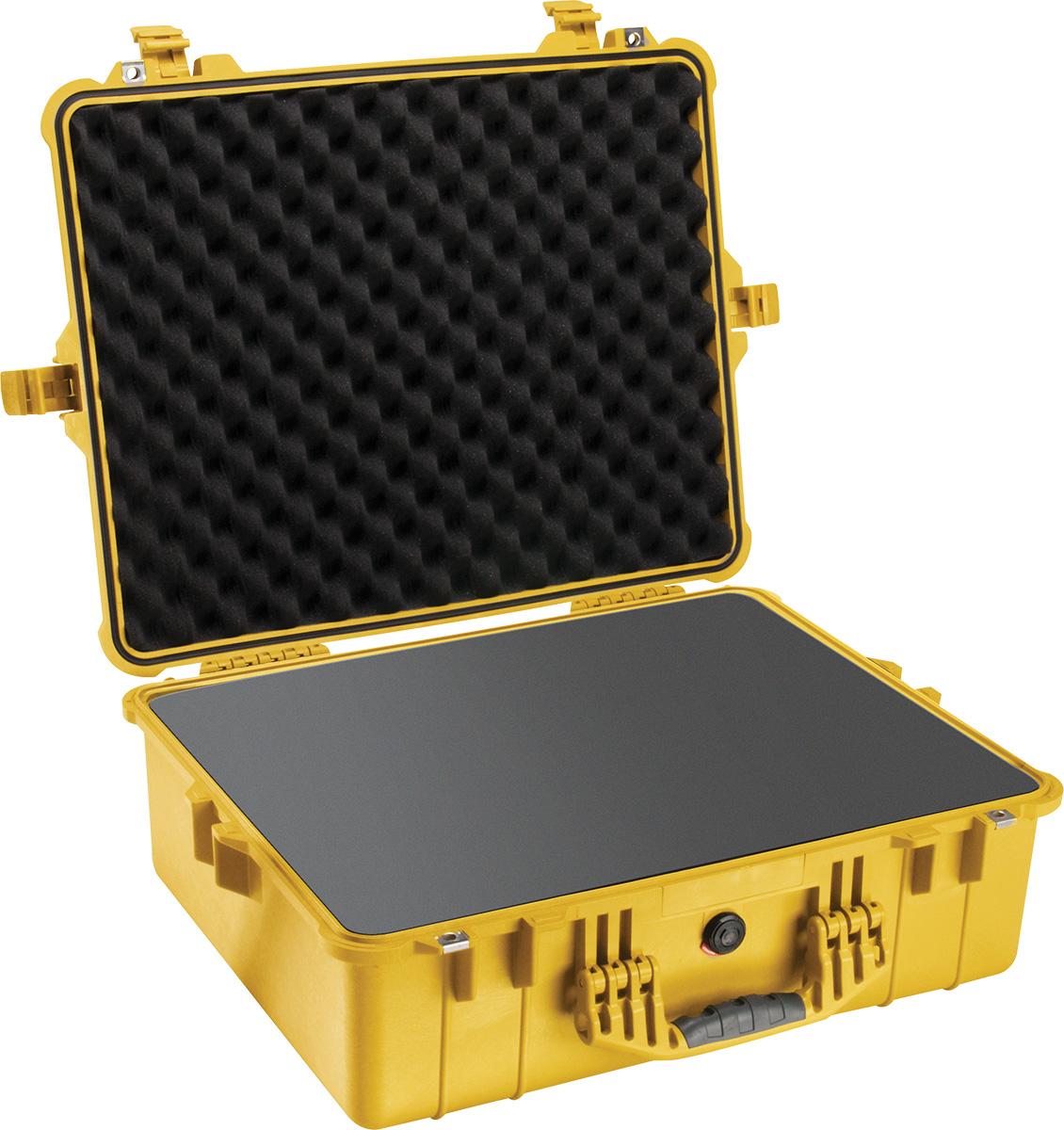pelican 1600 yellow camera foam case