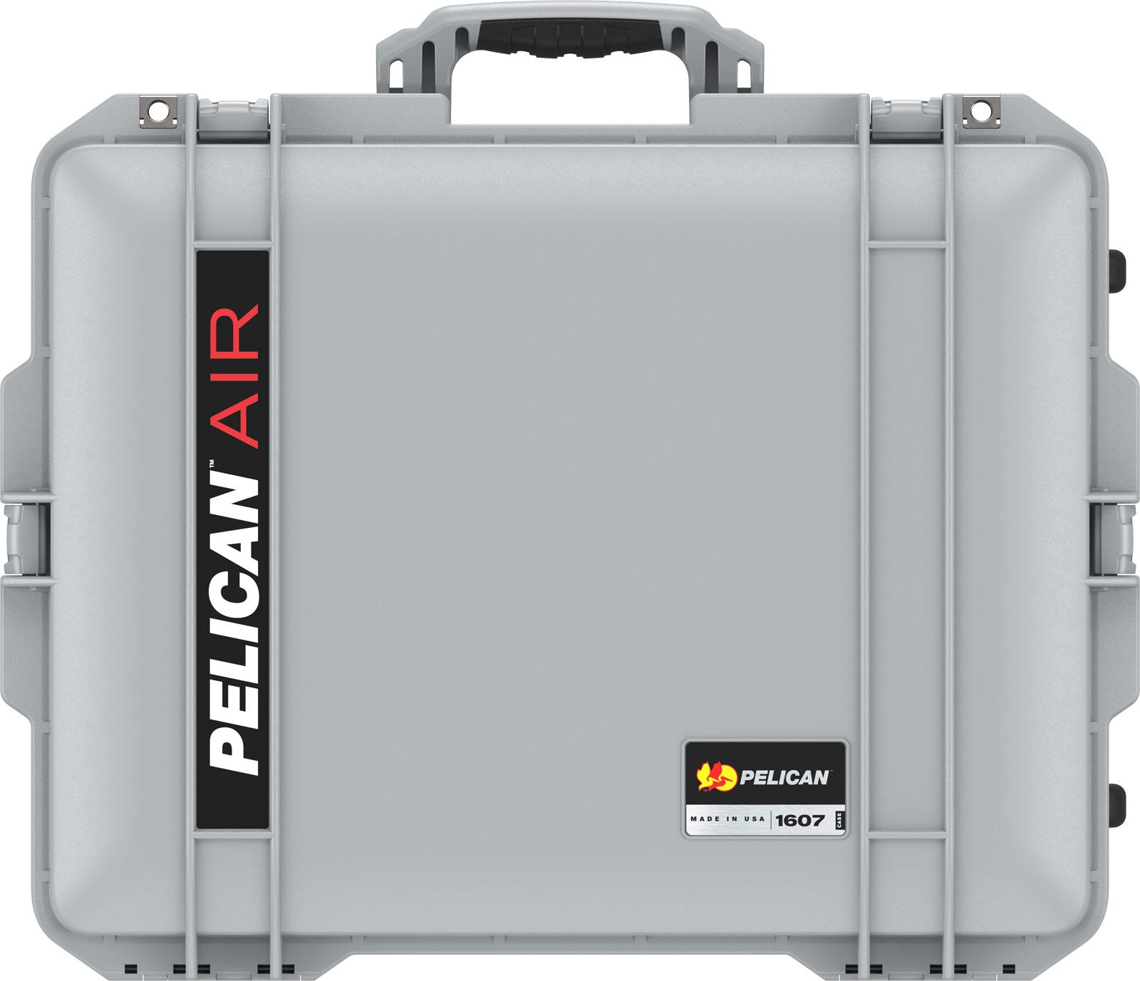 pelican 1607 air silver tough hard case