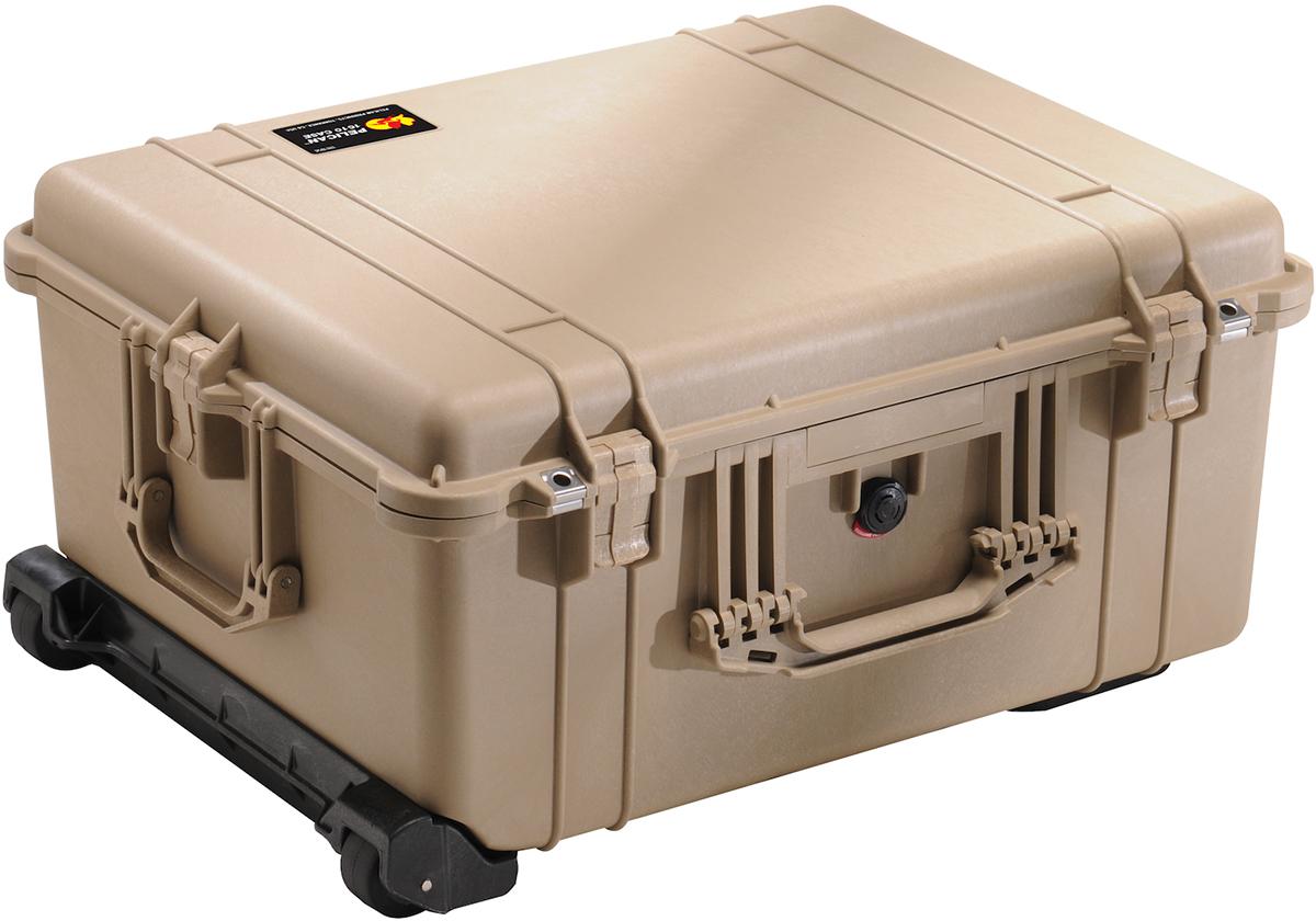 pelican 1610 tan crushproof case