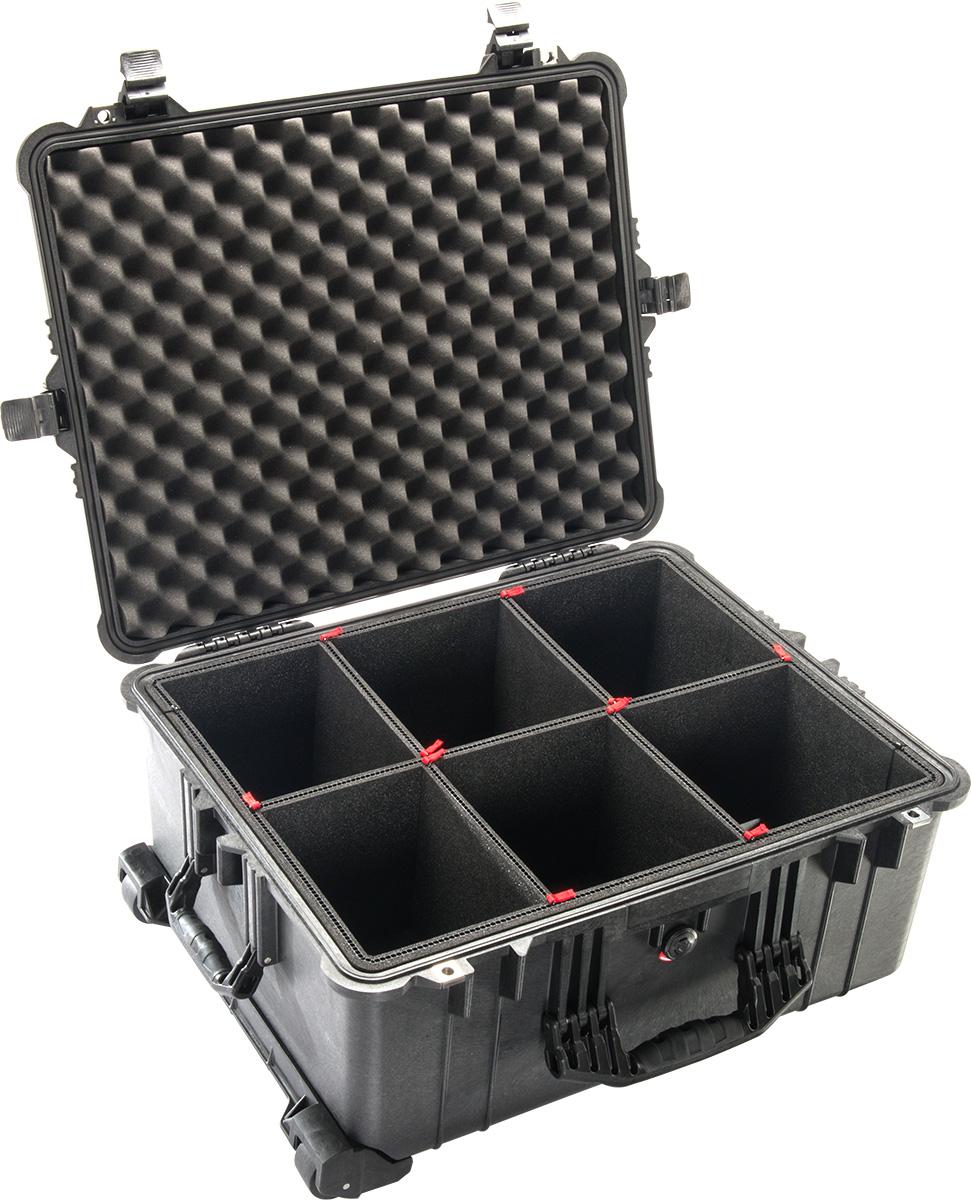 pelican 1610tp trekpack camera case divider system waterproof cases