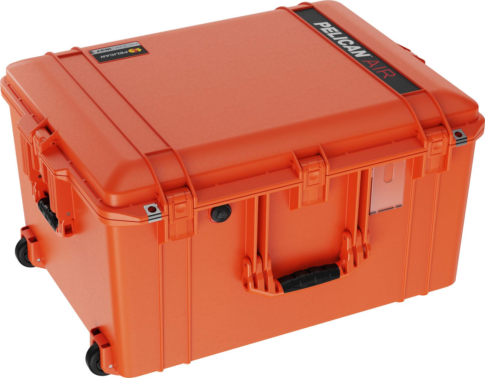 pelican 1637 air case orange cases rolling
