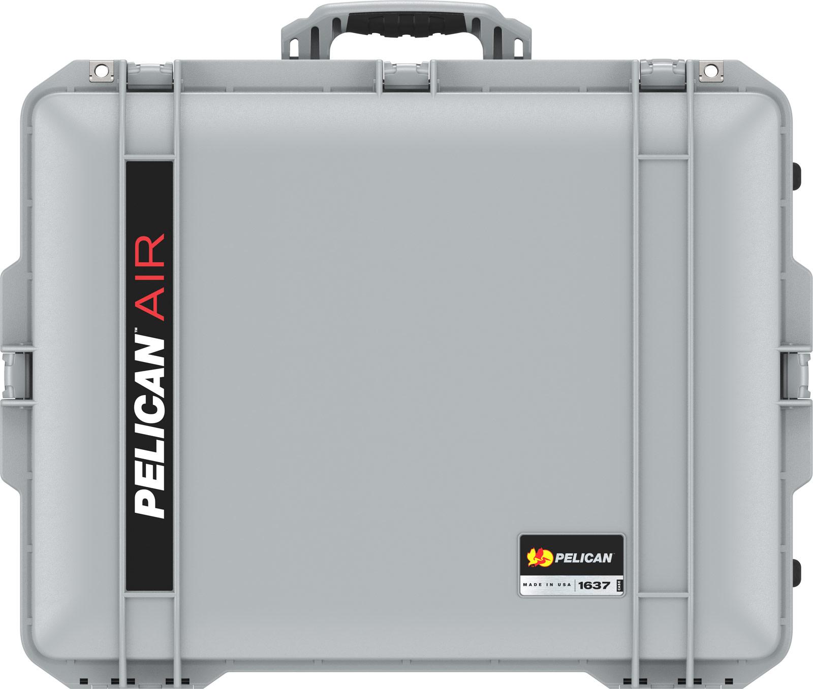 pelican 1637 air silver lightweight case