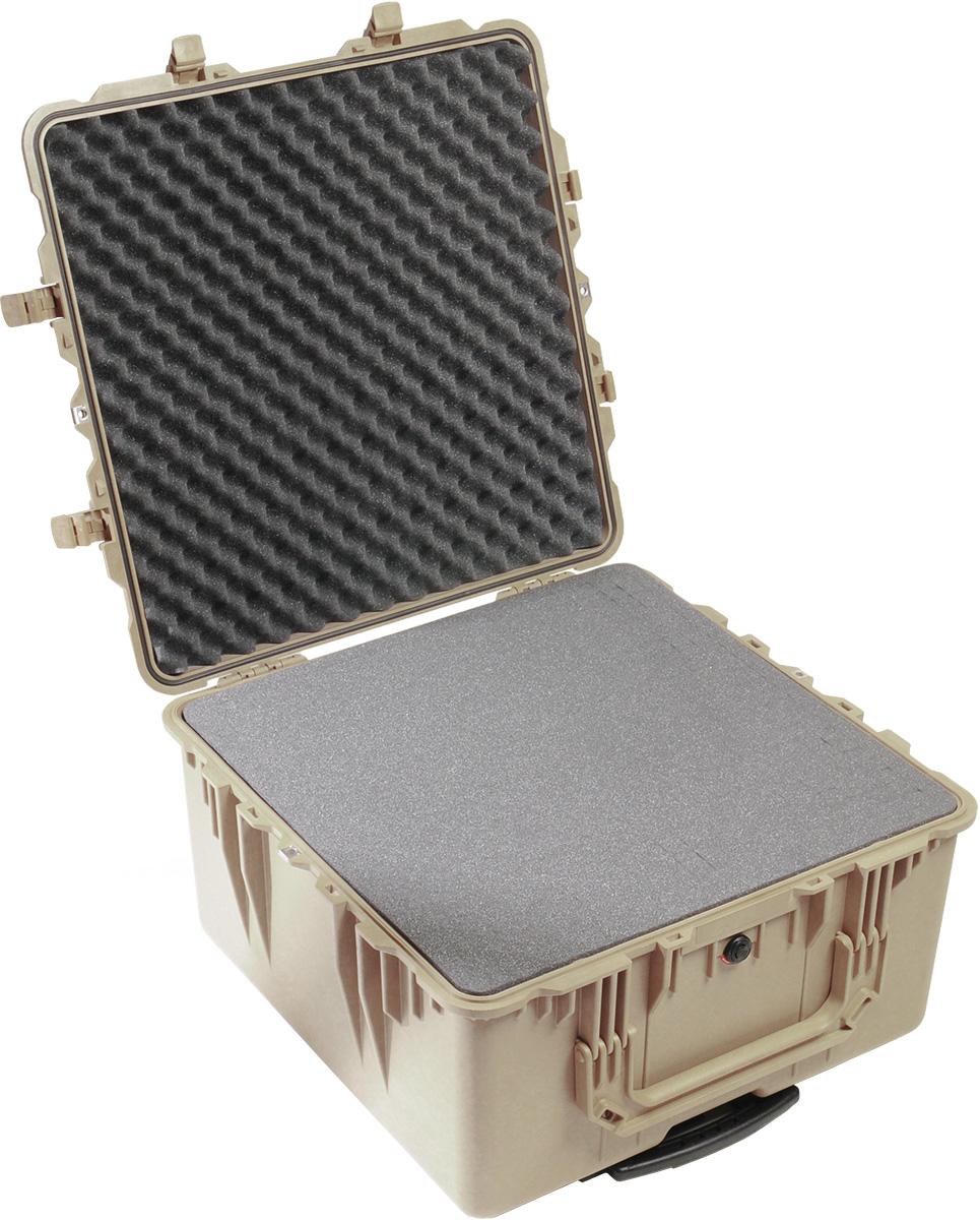 pelican 1640 protector tan foam computer case