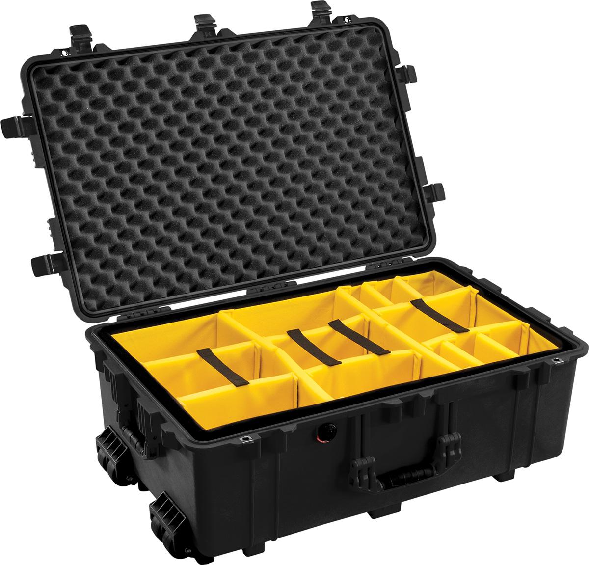 pelican 1650 watertight padded equipment case