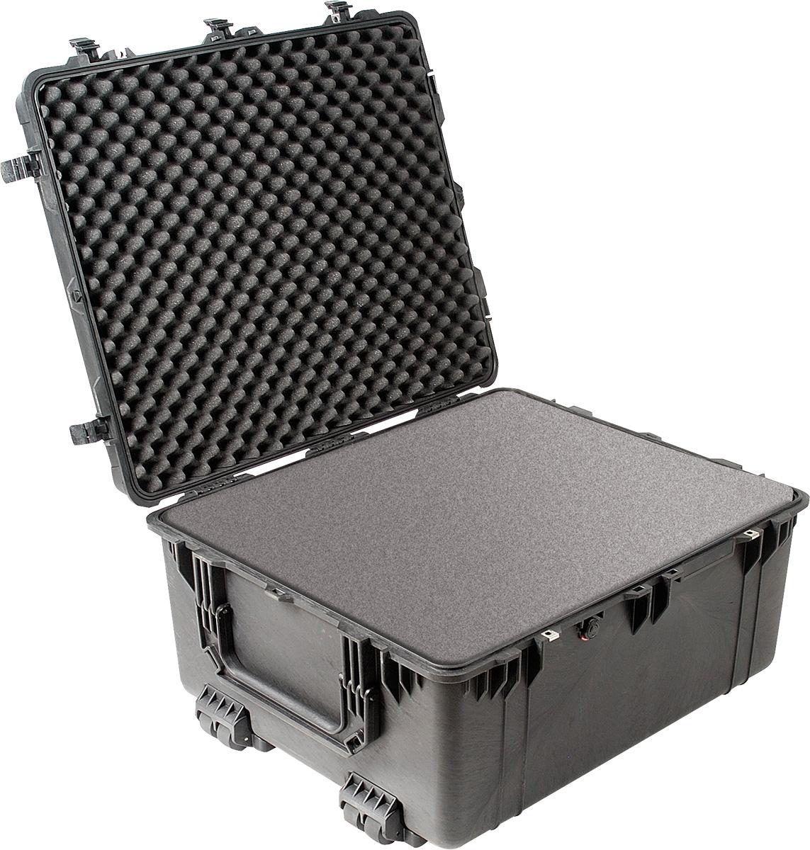 pelican 1690 foam black rolling case