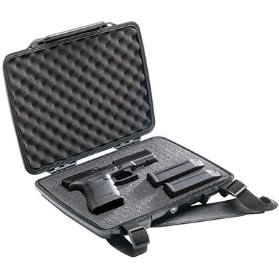 pelican p1075 hard pistol gun waterproof case
