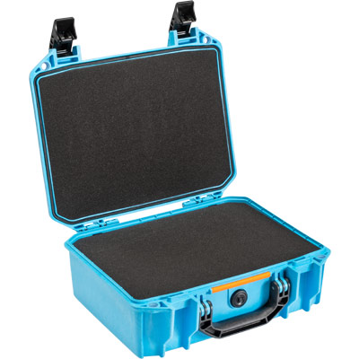 pelican blue vault case with foam v200c