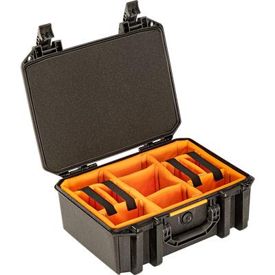 pelican vault v300 photo camera divider case