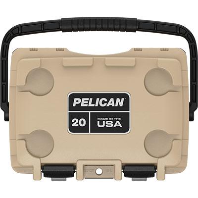 pelican 20qt overland cooler coyote tan
