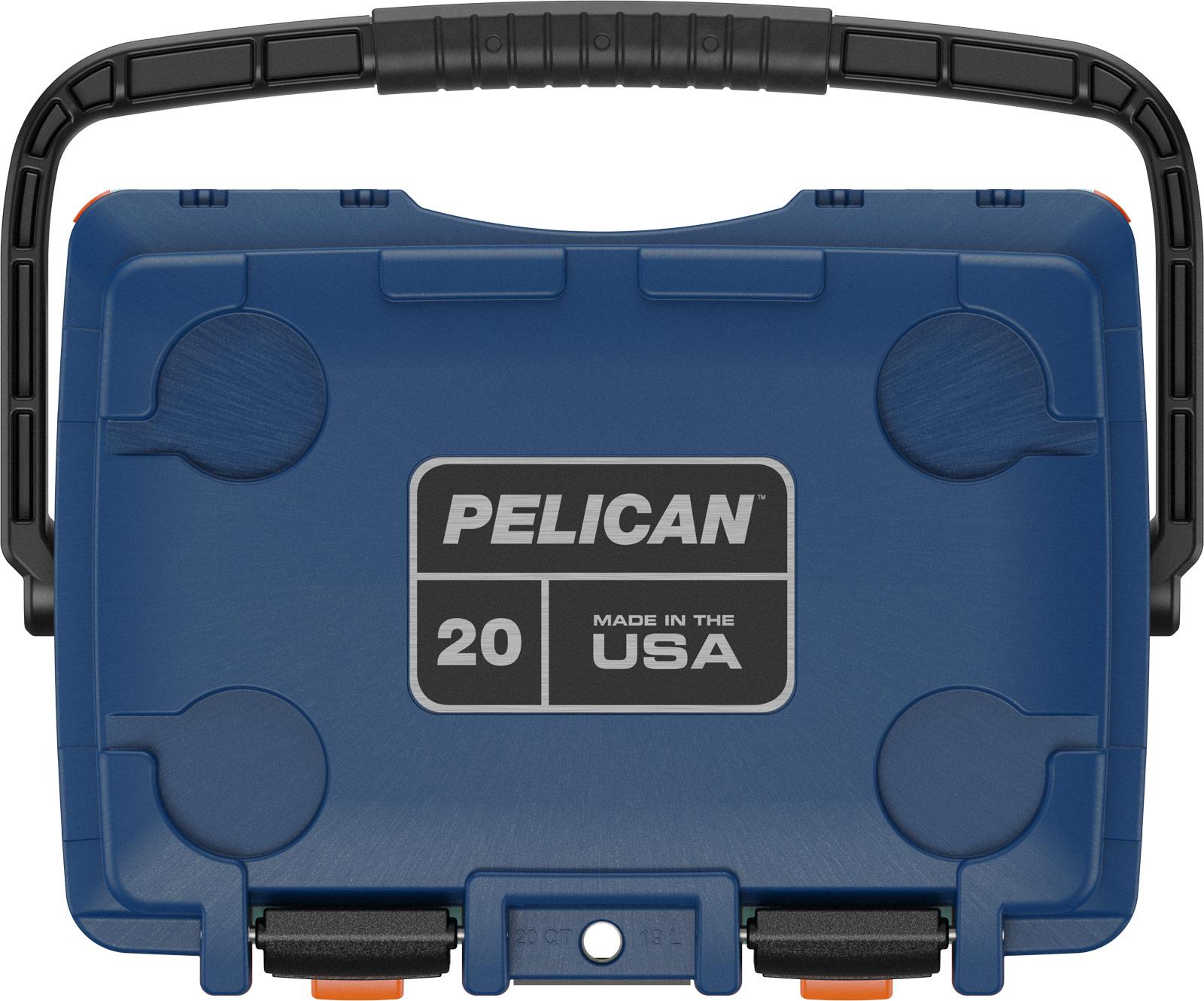 pelican drink cooler 20qt seafoam orange pacific blue