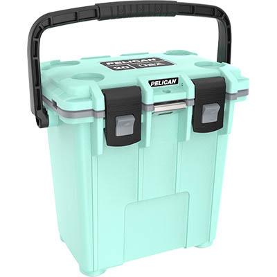 pelican green cooler 20qt marine coolers