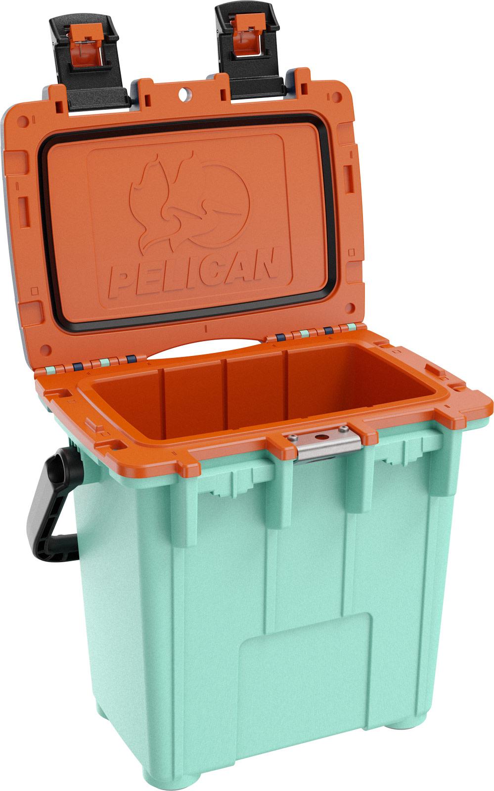 pelican travel cooler 20qt seafoam orange pacific blue