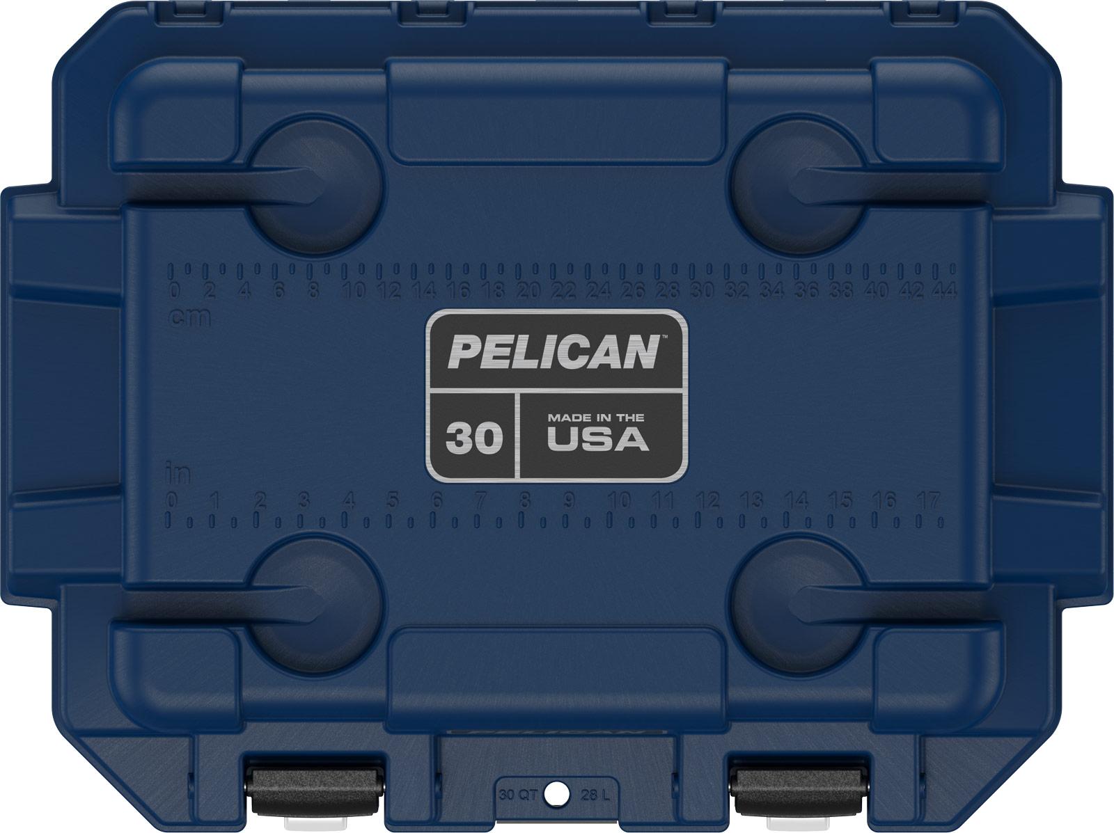 pelican camping cooler 30qt americana red white blue