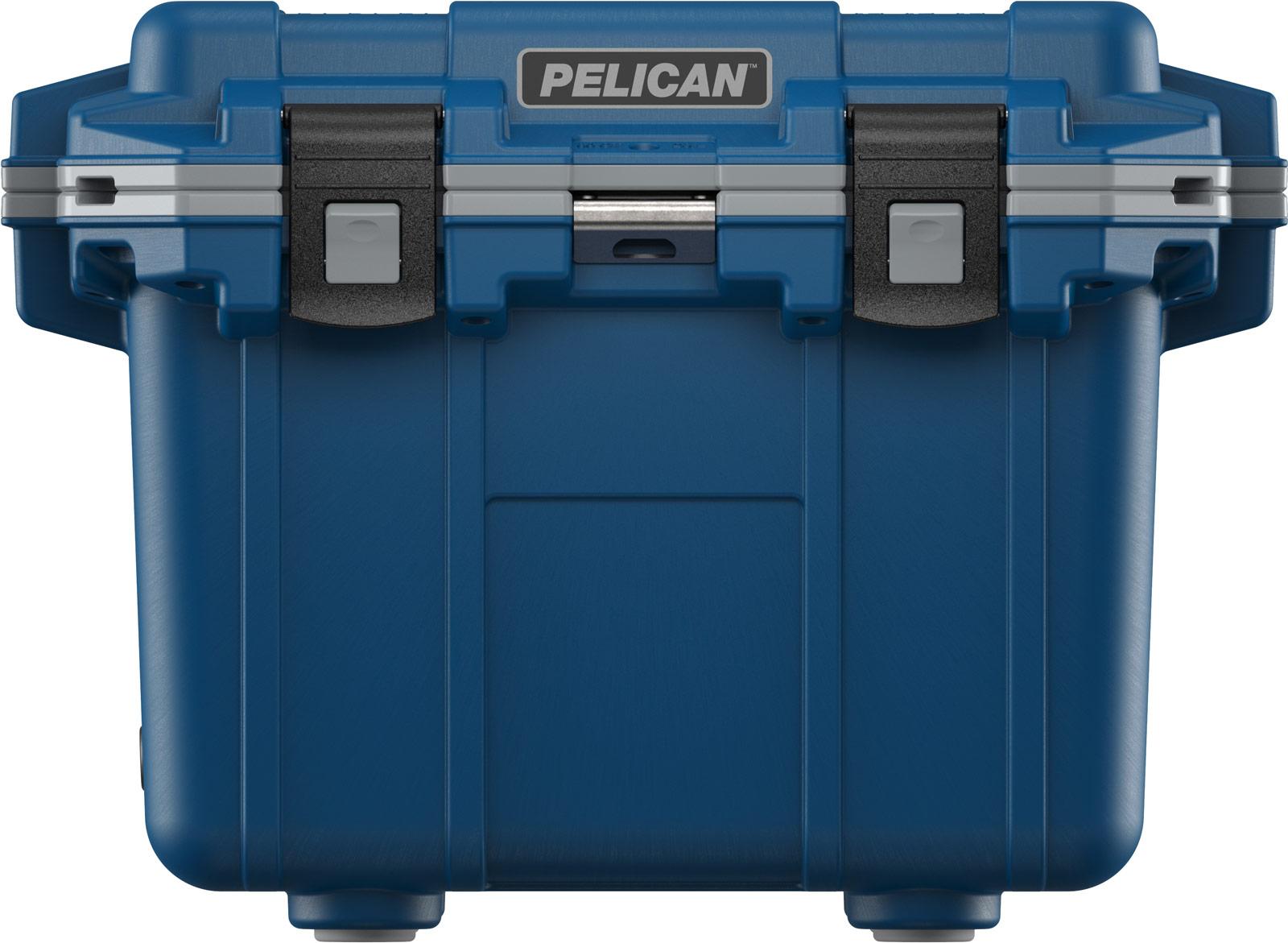 pelican fishing cooler 30qt pacific blue gray