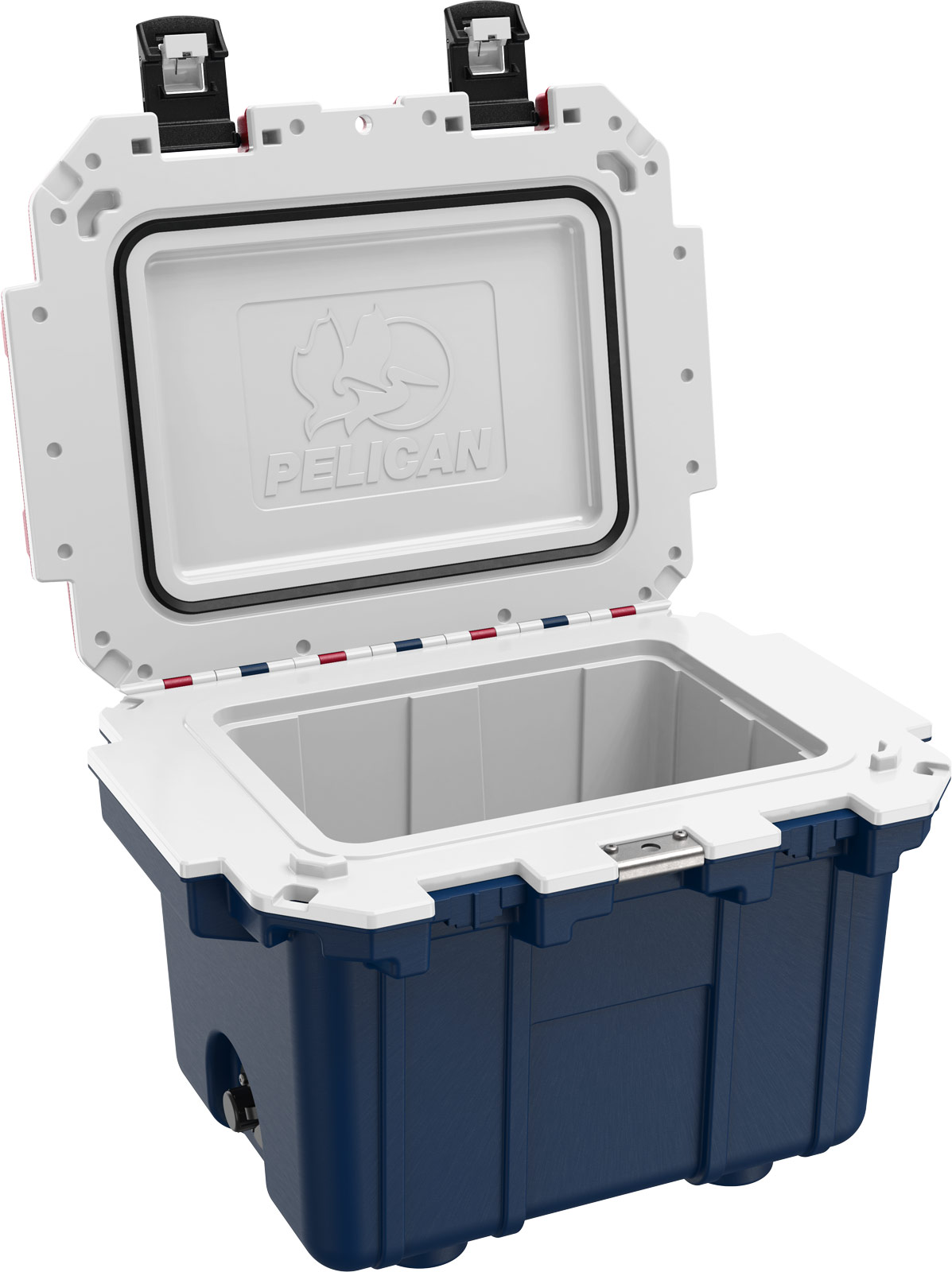 pelican picnic cooler 30qt americana blue white red