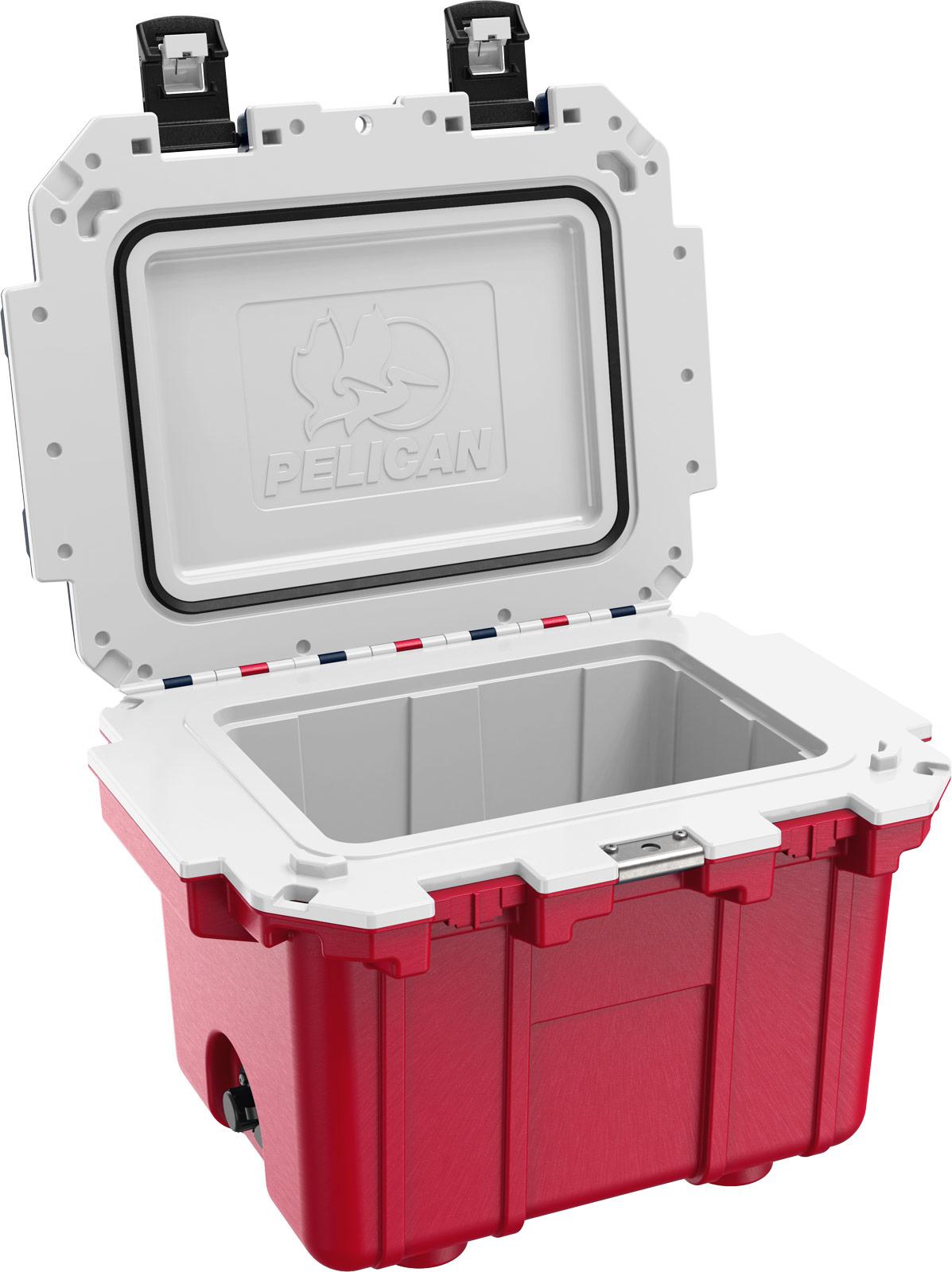 pelican picnic cooler 30qt americana red white blue