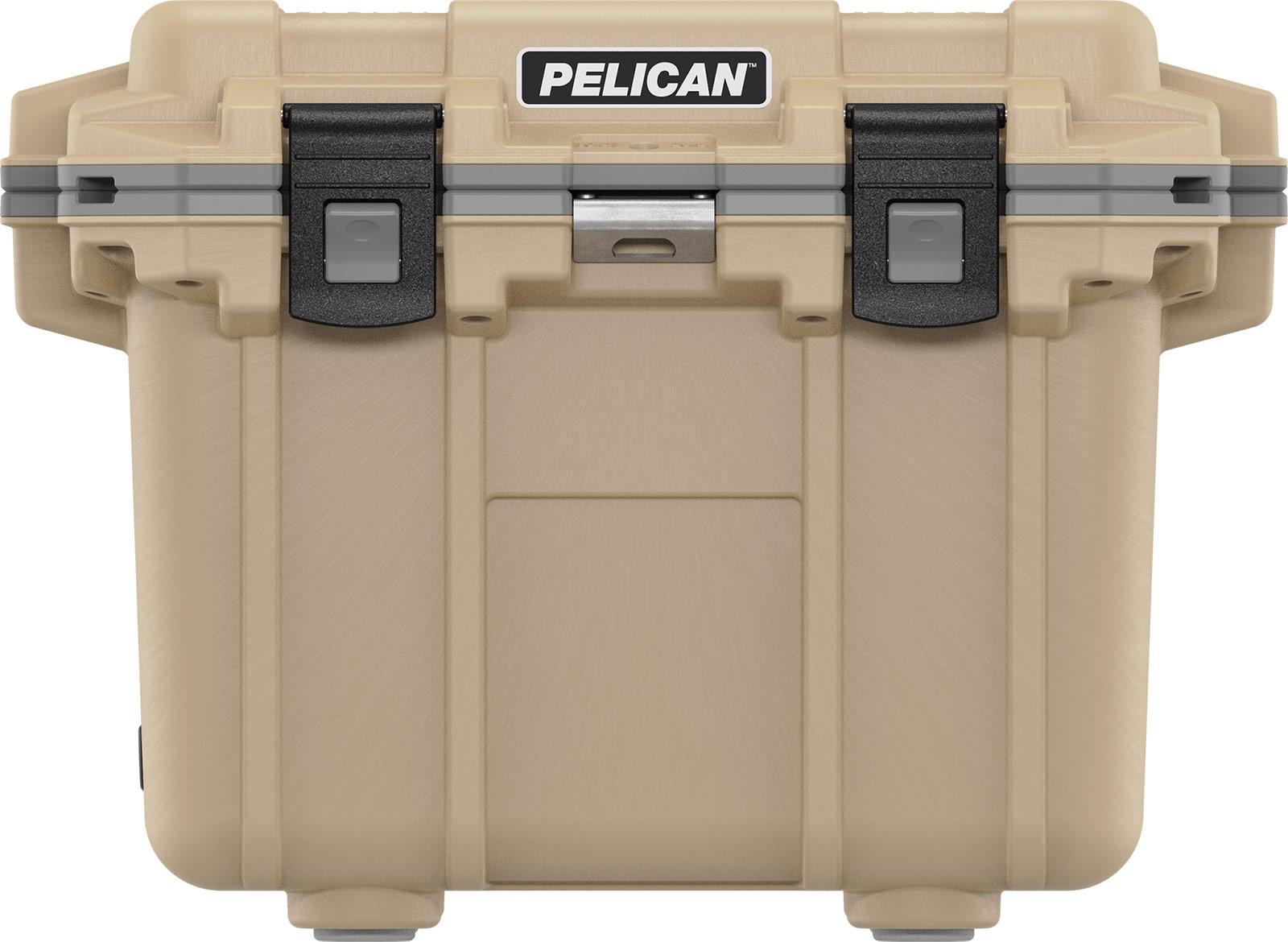 pelican tan outdoor cooler 30qt overland