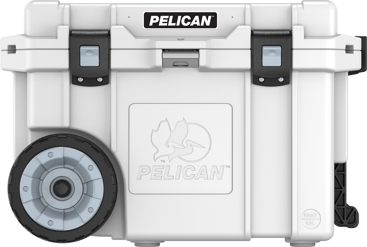 pelican 45qw wheeled cooler 45 quart rolling cooler