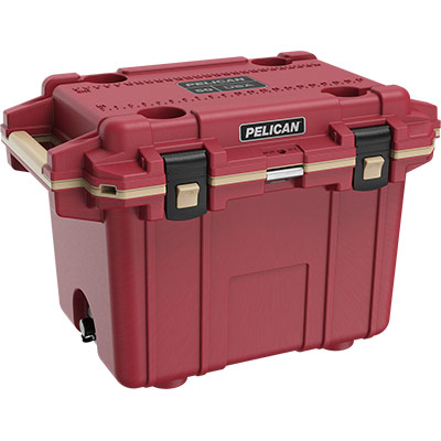 pelican 50qt cooler overland collection red