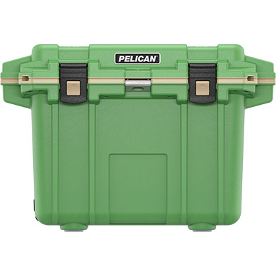 pelican 50qt green cooler overland collection