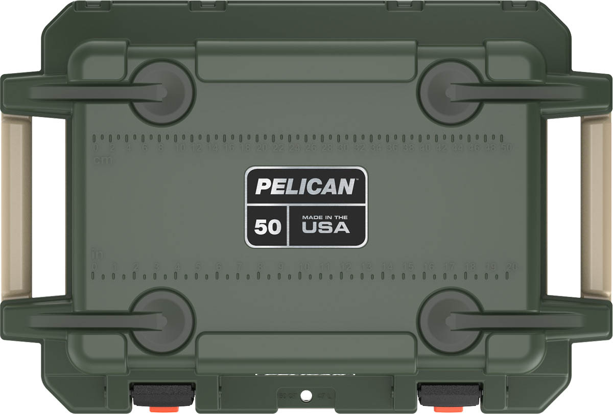 pelican made in usa coolers 50qt od green
