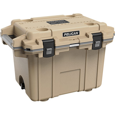 pelican overland collection tan cooler 50qt