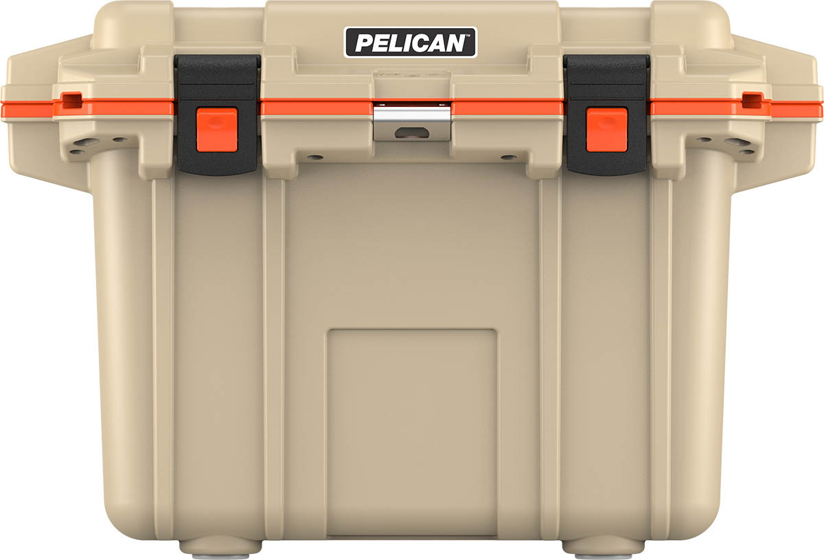 pelican products tan outdoor camping cooler