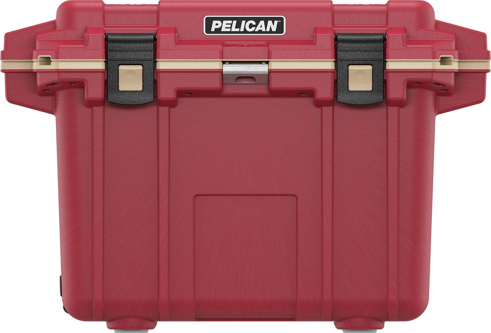 pelican red overland coolers 50qt cooler