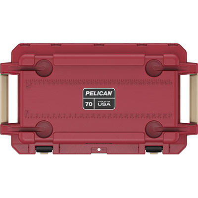 pelican 70 quart red overland cooler collection