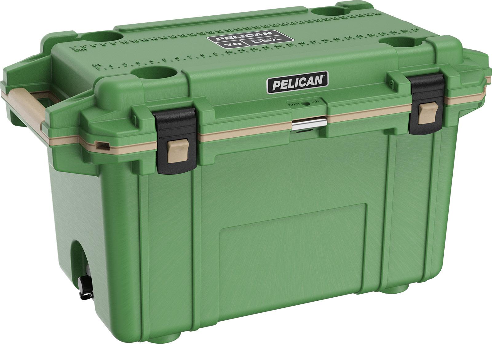 pelican 70qt green cooler overlanding coolers