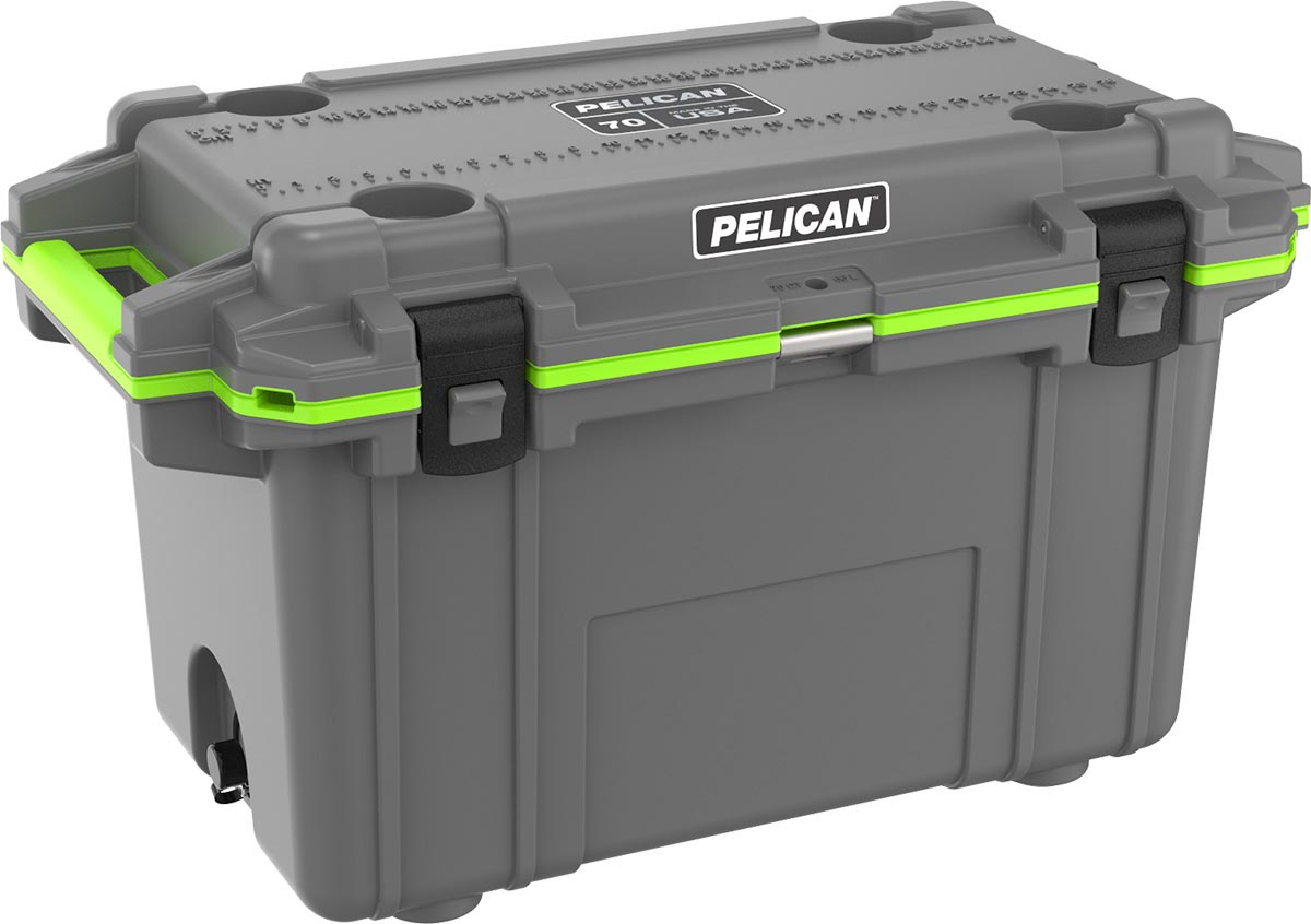 pelican green grey cooler usa made coolers
