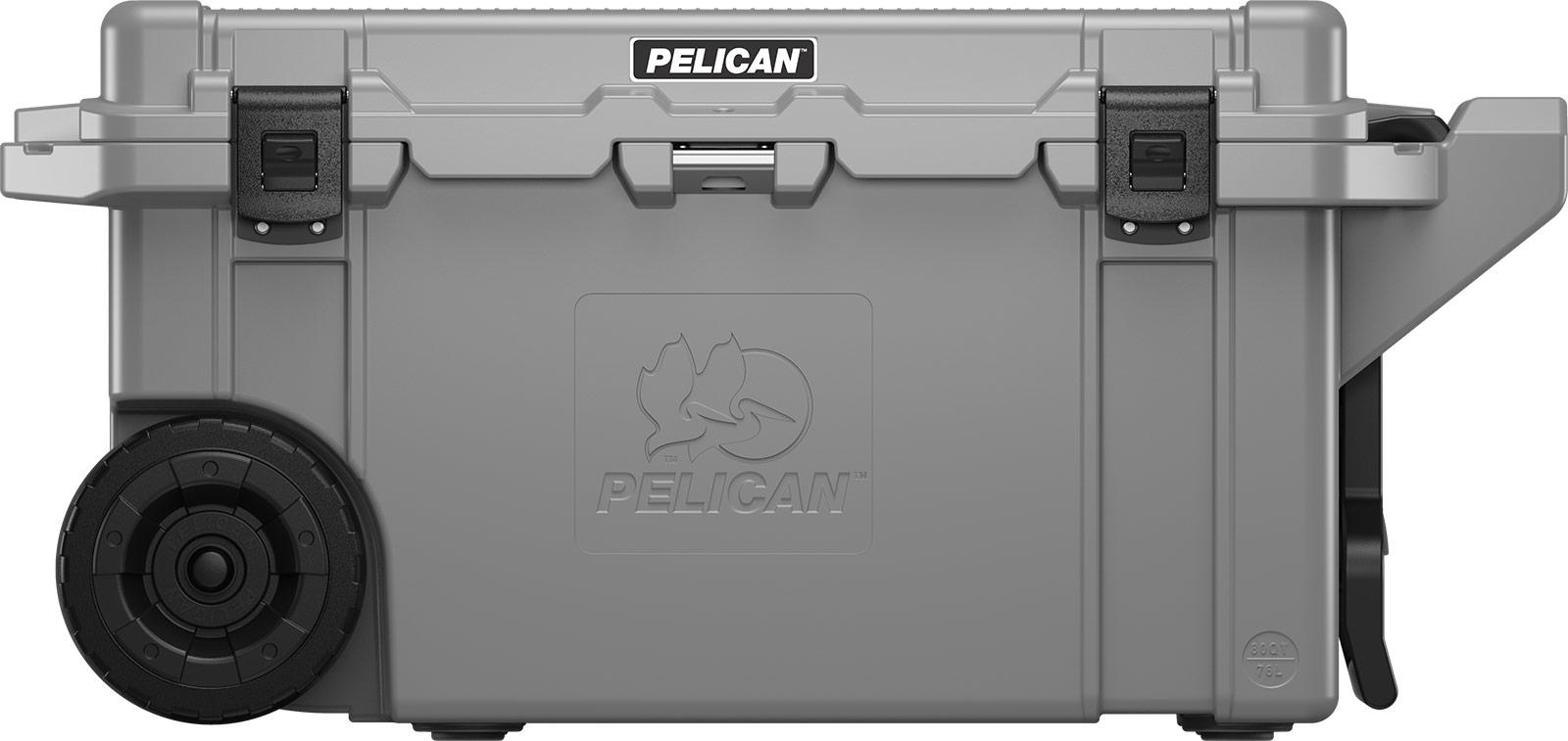 pelican 80qt cooler gray wheeled coolers