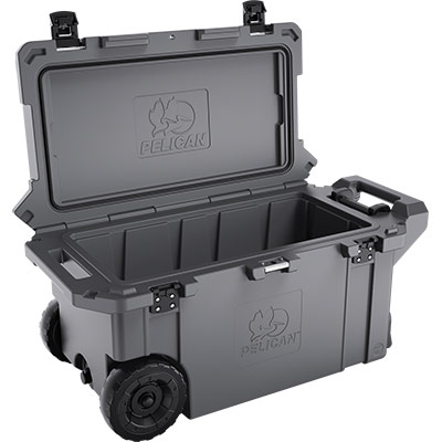 pelican rolling cooler with wheels graphite