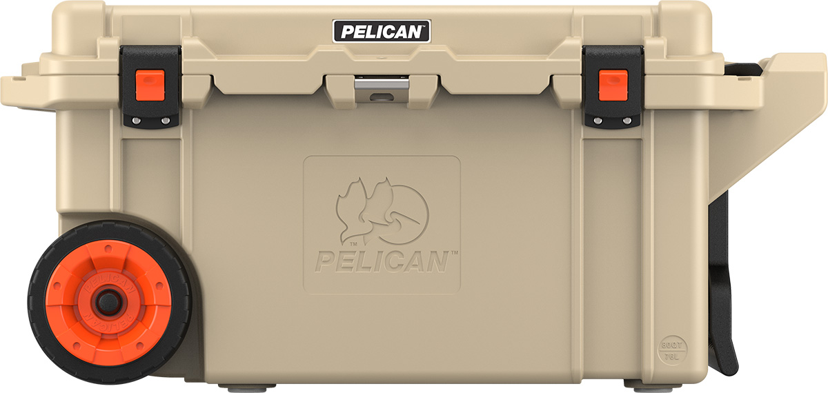 pelican tan hunting cooler rolling coolers