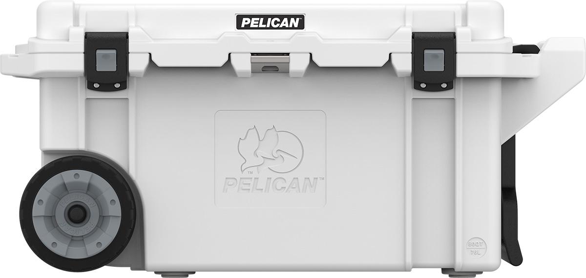 pelican white rolling fishing cooler 80 qt