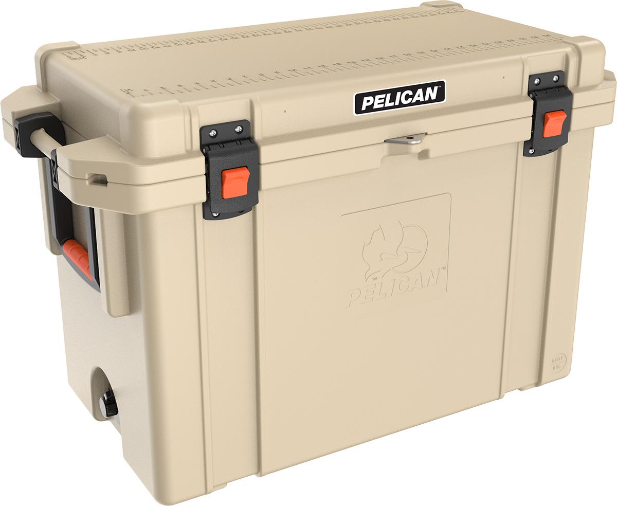 pelican tan hunting cooler outdoor coolers