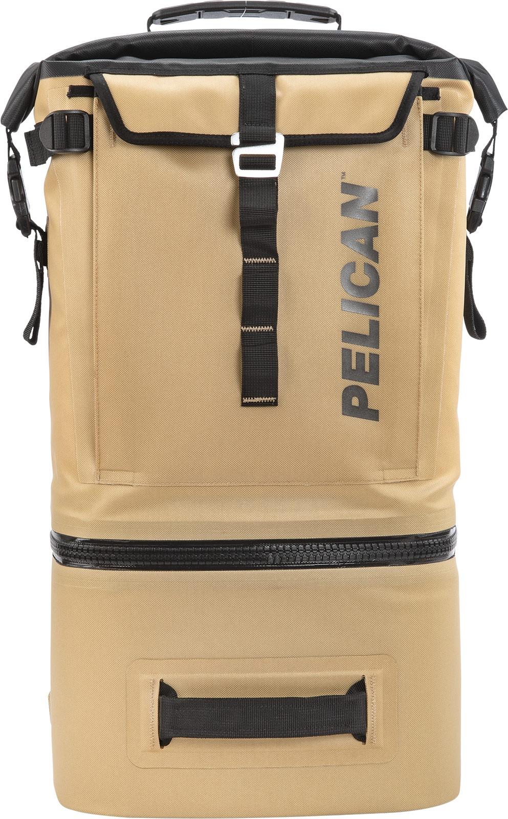 pelican lightweight backpack cooler tan
