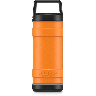pelican 18oz orange insulated bottle