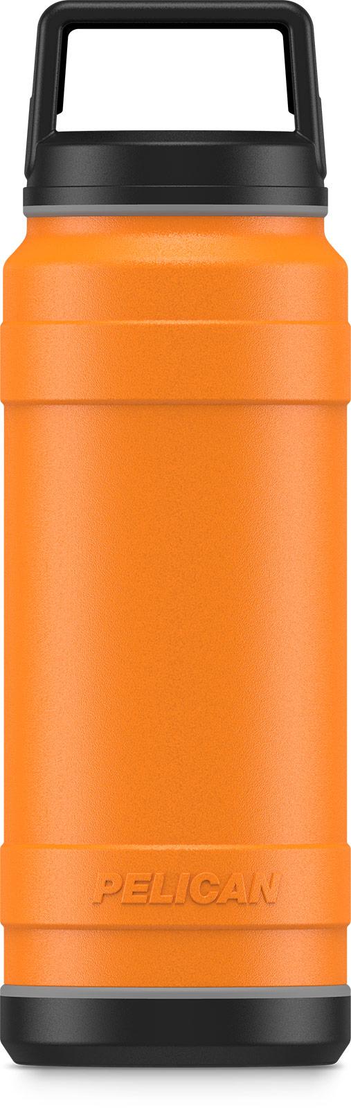 pelican 32oz orange insulated bottle