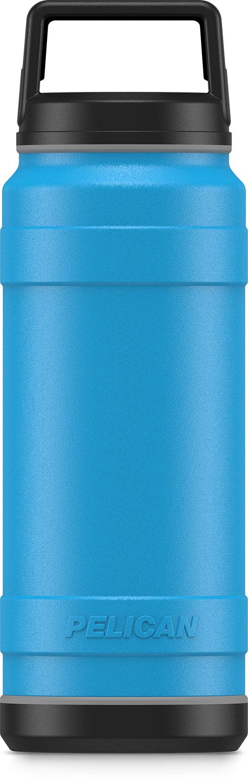 pelican 32oz stainless steel bottle blue