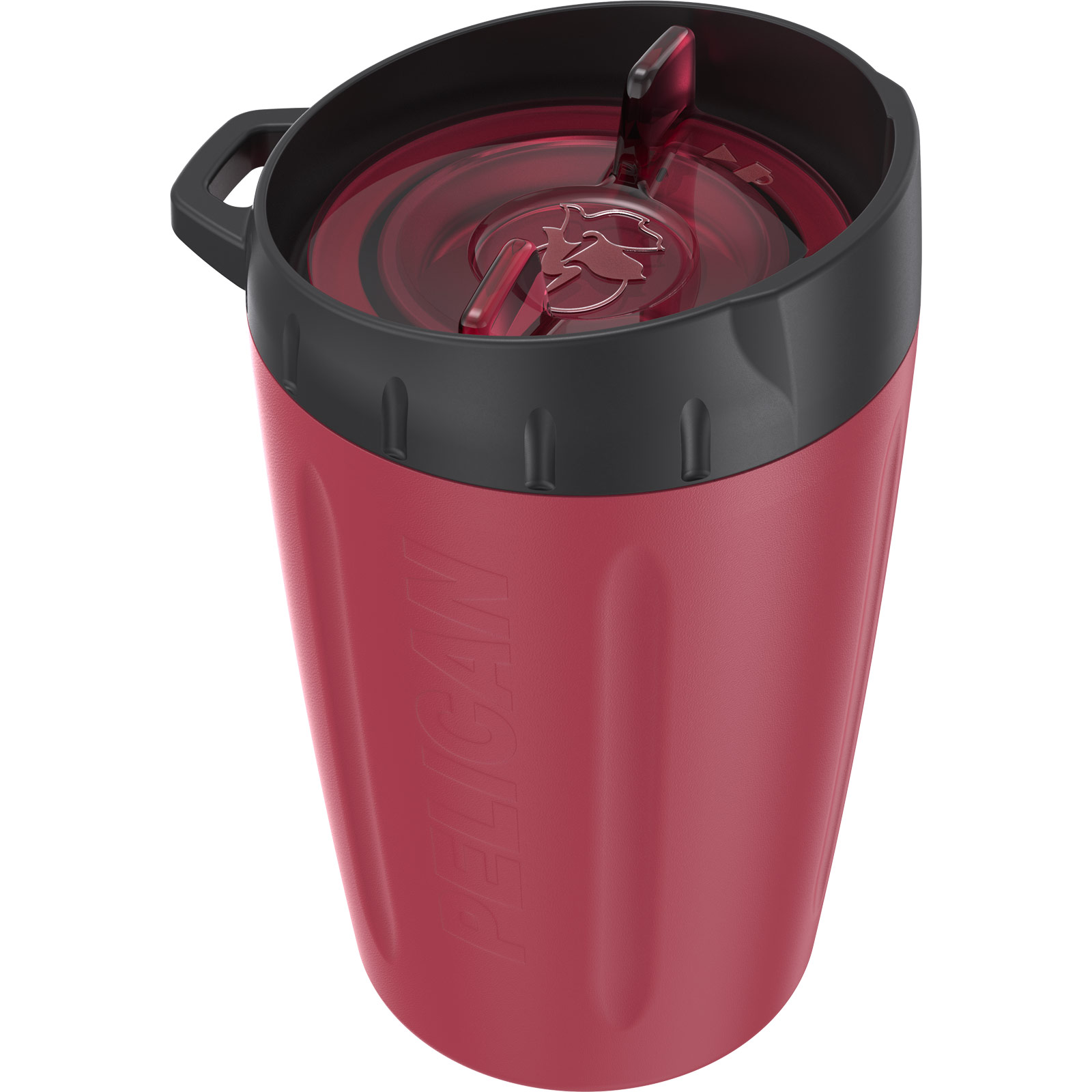 pelican 10oz red leakproof lid tumbler